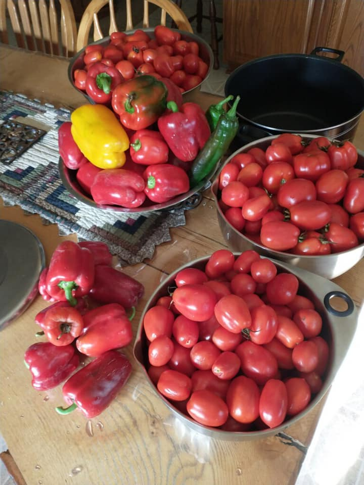 Fall Produce. Peppers, Tomatoes and other fresh organic local produce in Menominee, MI at Raven Wood Gardens LLC